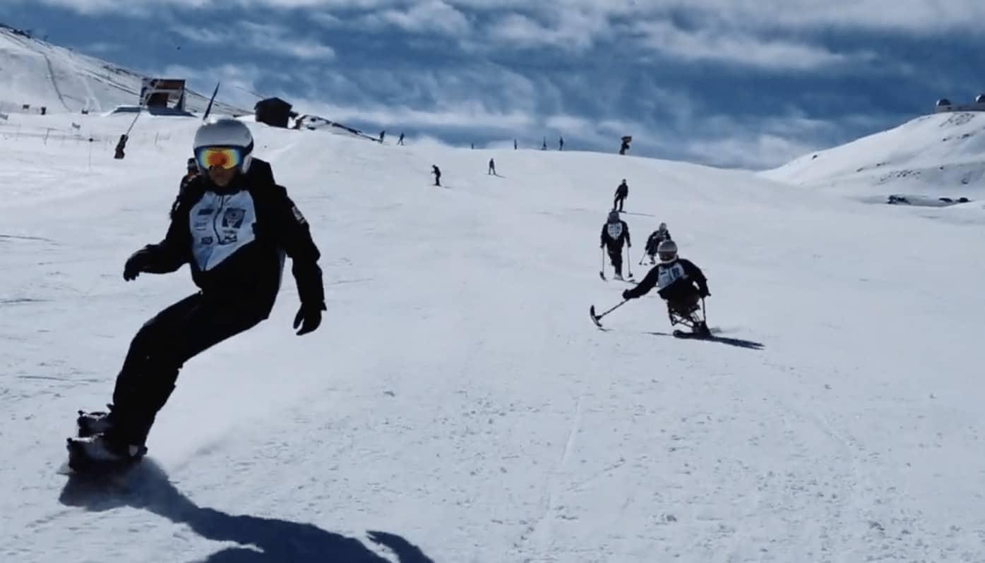 Esquiadores adaptados en Sierra Nevada