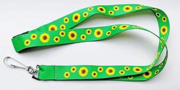 Cordón verde con girasoles