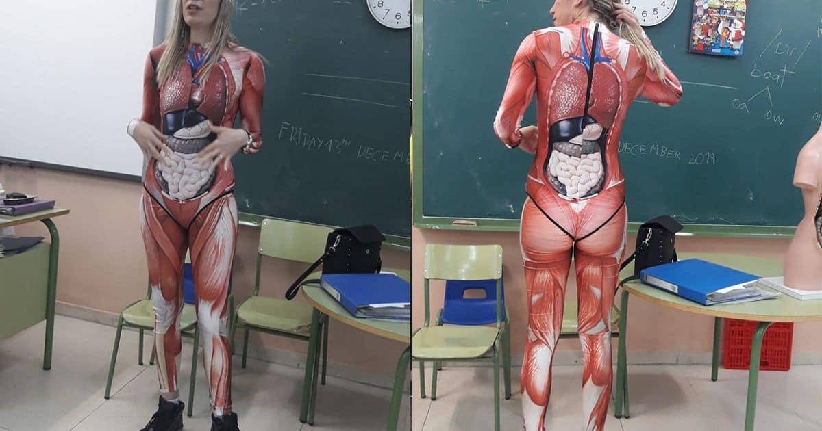 disfraz cuerpo humano