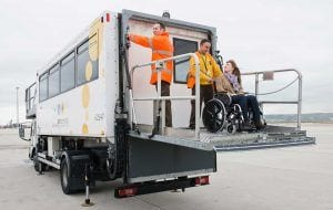 Camión de servicio de asistencia PMR   Clece