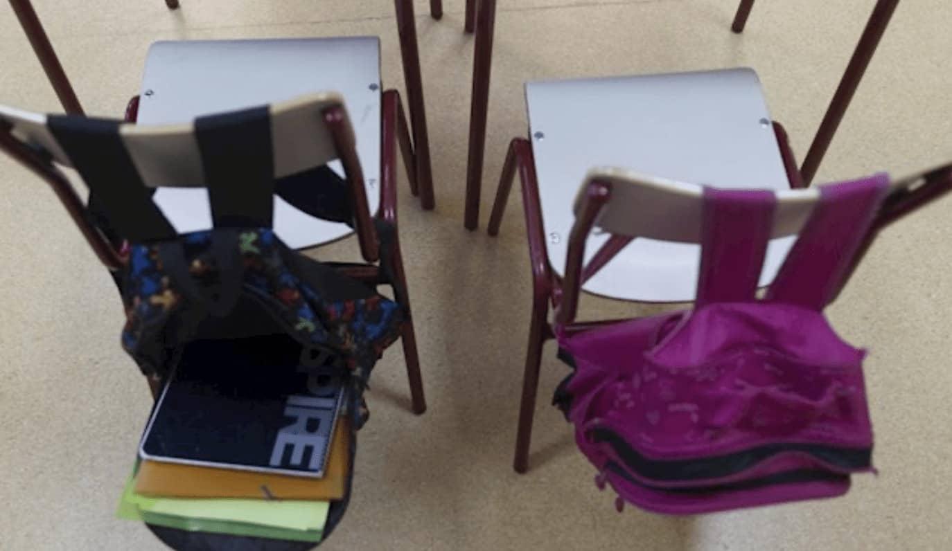 Sillas en clase