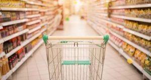 Carro de la compra en un supermercado