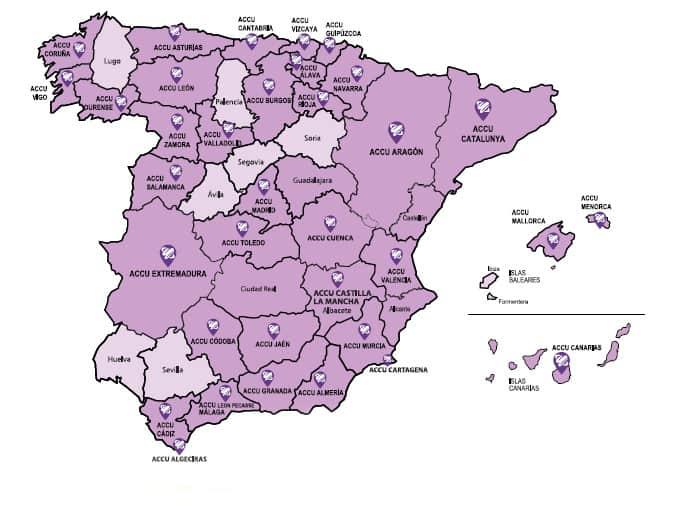 Mapa de España con tasa de personas con la enfermedad del crohn