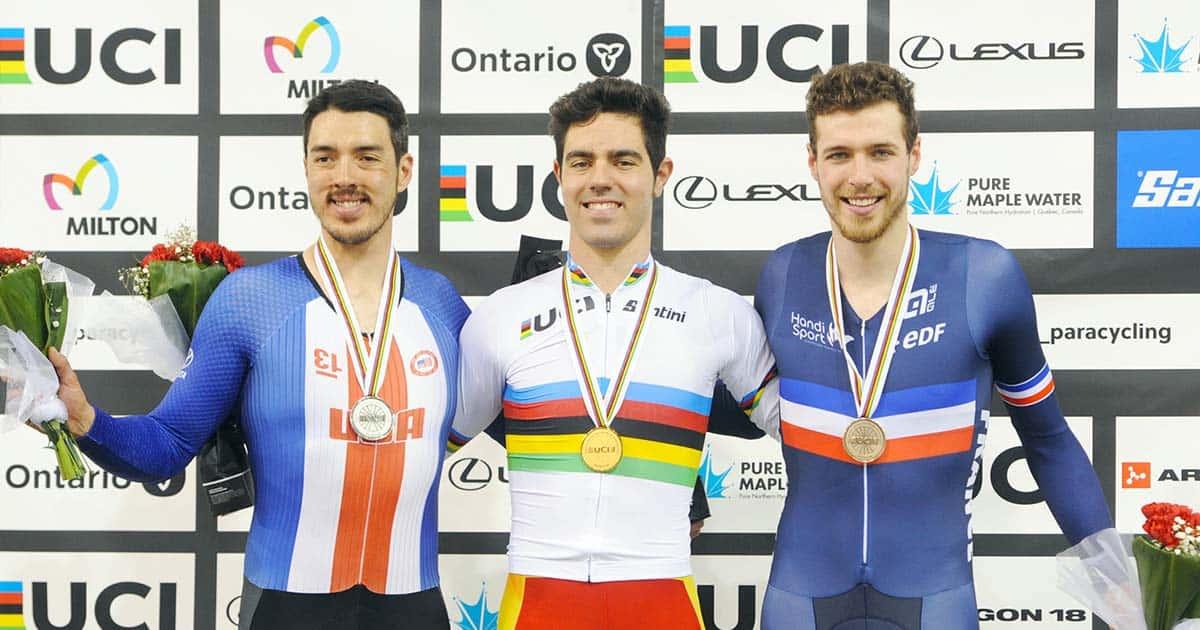 Alfonso Cabello, oro en el mundial de ciclismo paralímpico