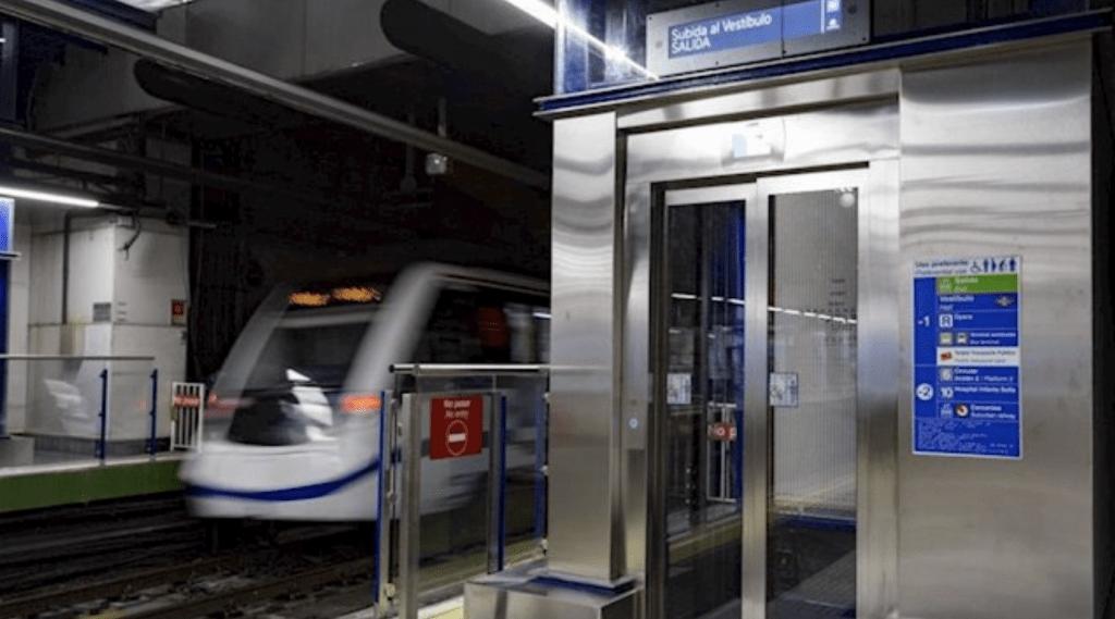 Ascensor metro Madrid