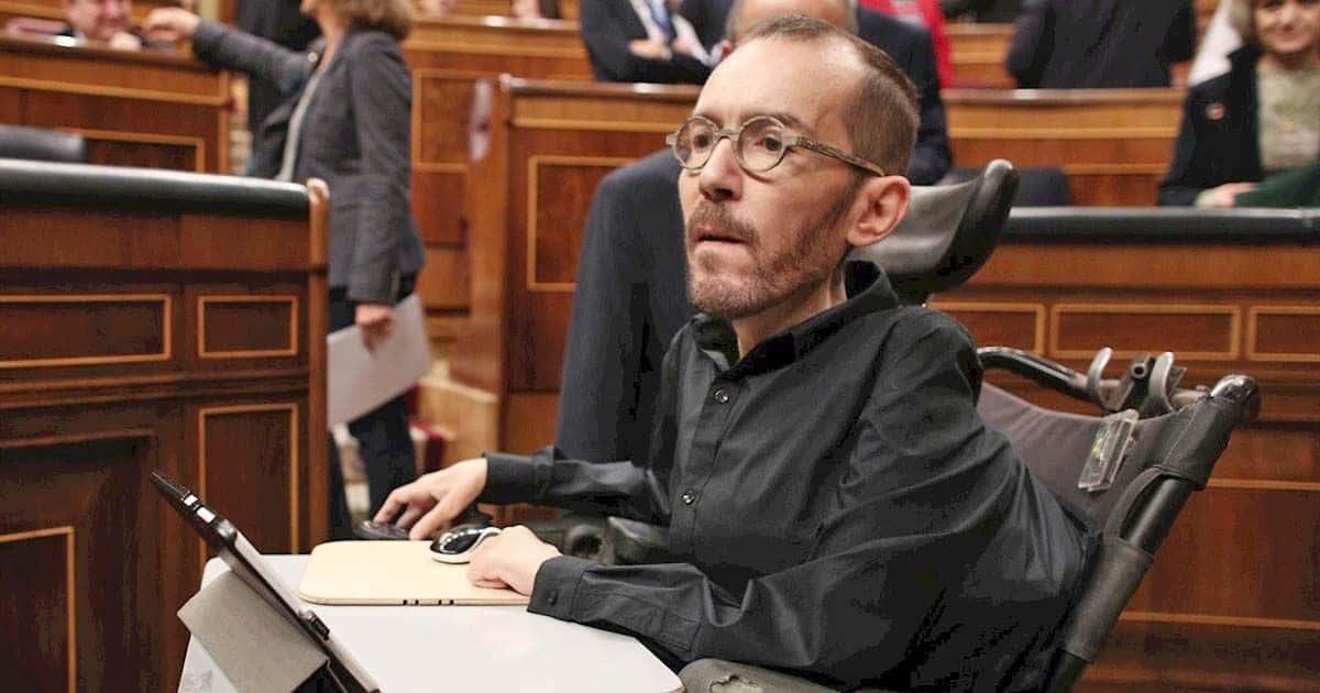 Pablo Echenique en el Congreso de Diputados
