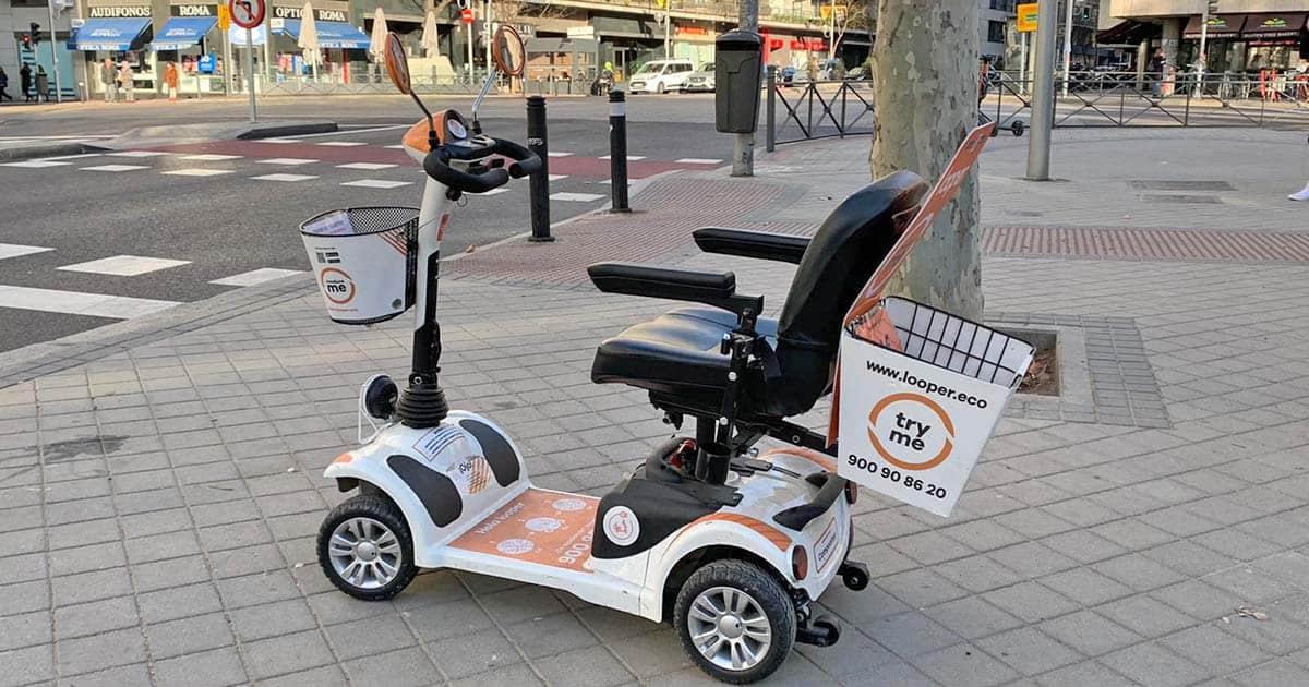 Scooter de alquiler personas movilidad reducida