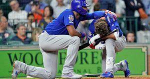 El jugador de Béisbol se lamenta de la niña, que sufrió daño cerebral