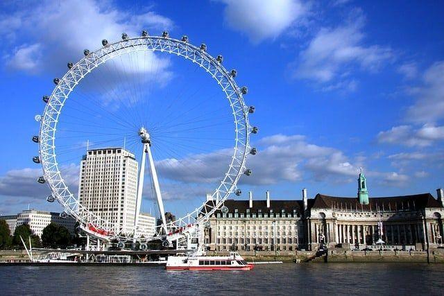 Vista del London Eye accesible.