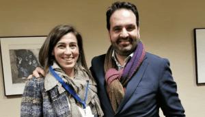 Raquel Díaz(Centro Altea) e Íñigo Alli (CEDDD)