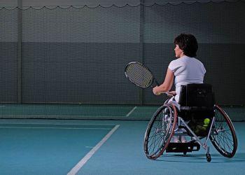 Tenista en silla de ruedas