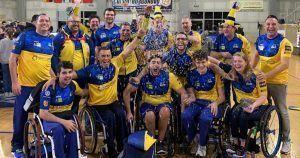 El Ilunion celebrando una victoria de baloncesto en silla de ruedas