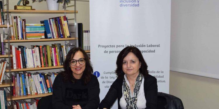 Dos representantes de fundación inclusión y diversidad