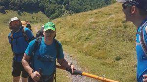 Javier, senderista ciego español que viajará a la Antártida