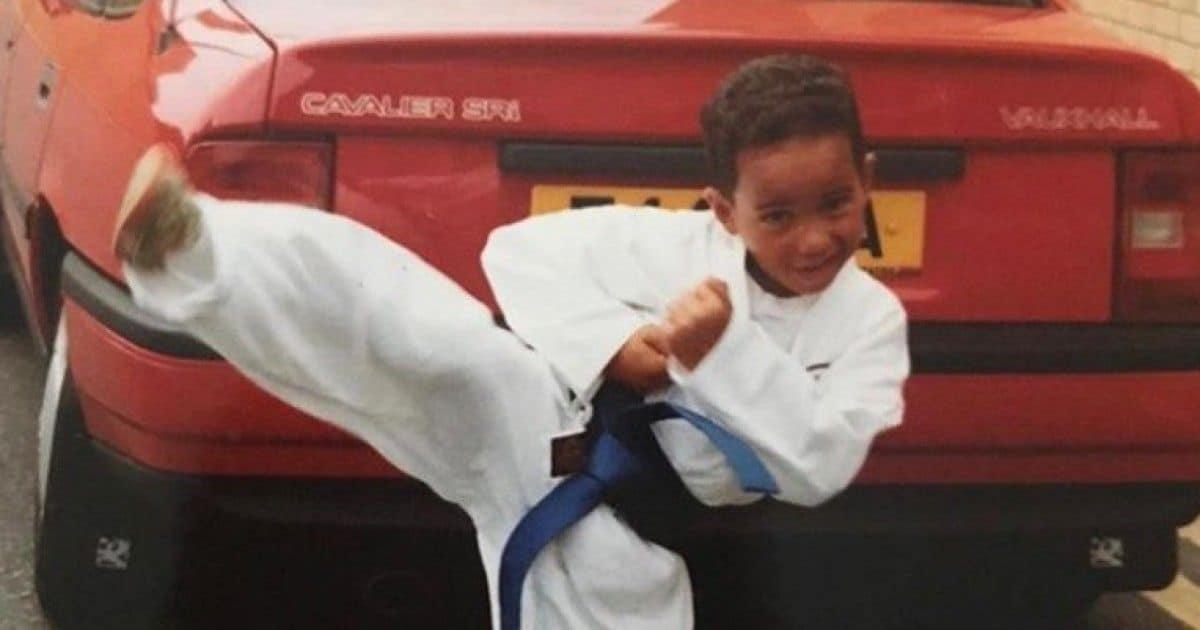 Lewis Hamilton de niño.