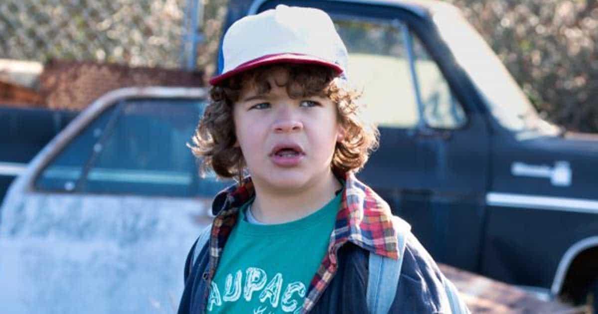 Dustin durante una escena de Stranger Things