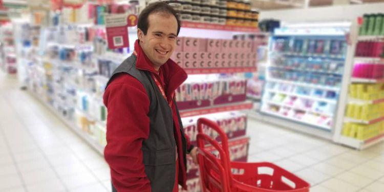 Abel, trabajador con discapacidad intelectual