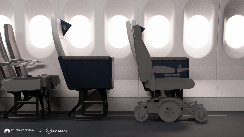 Asiento avion para volar en la propia silla de ruedas