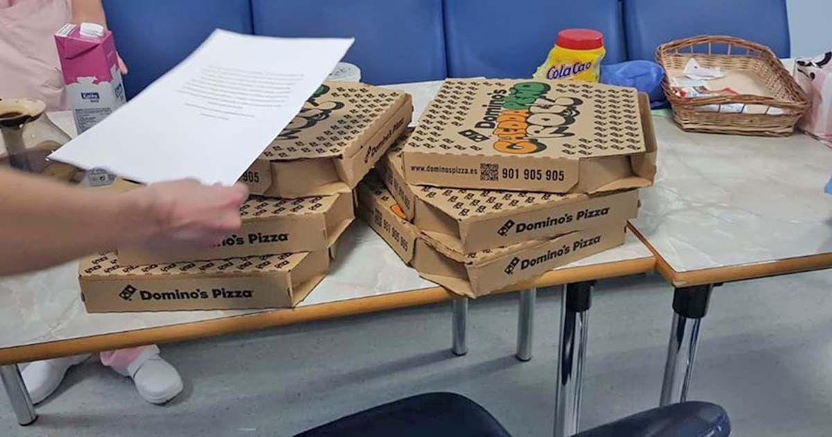 El gran gesto de Domino´s Pizza con los sanitarios de urgencias de Vitoria