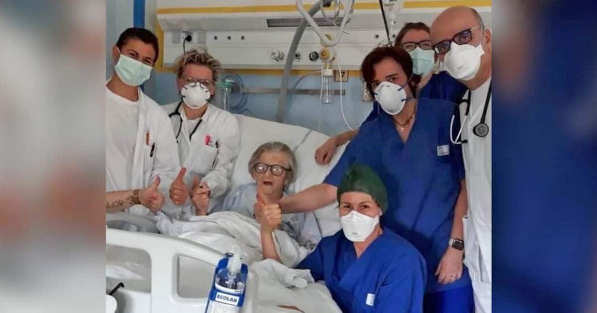 Mujer italiana de 95 años supera el coronavirus