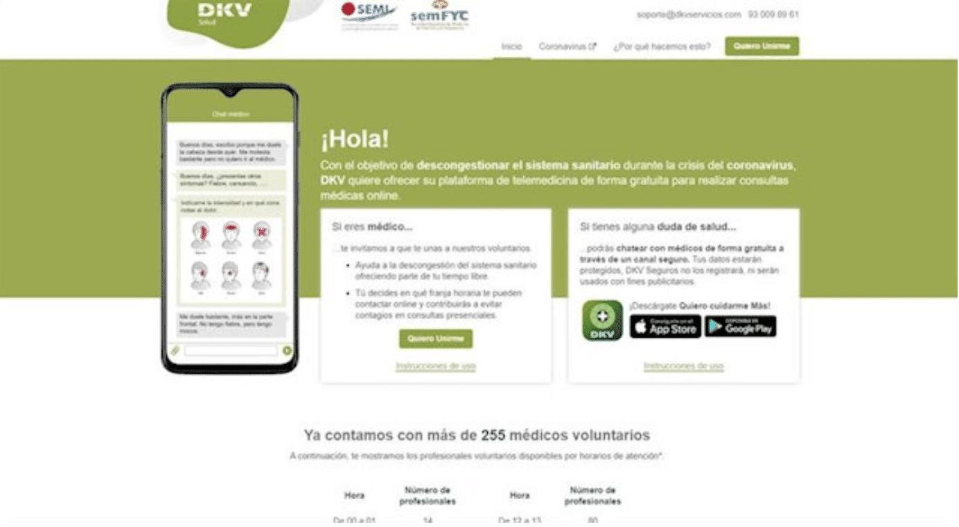 Plataforma de telemedicina grauita de DKV - DKV SEGUROS