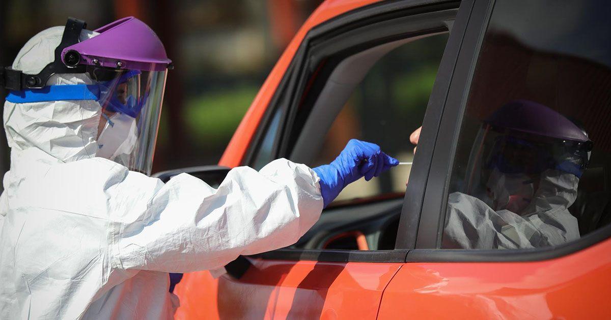 Test rápidos de coronavirus en el coche. Foto: EP