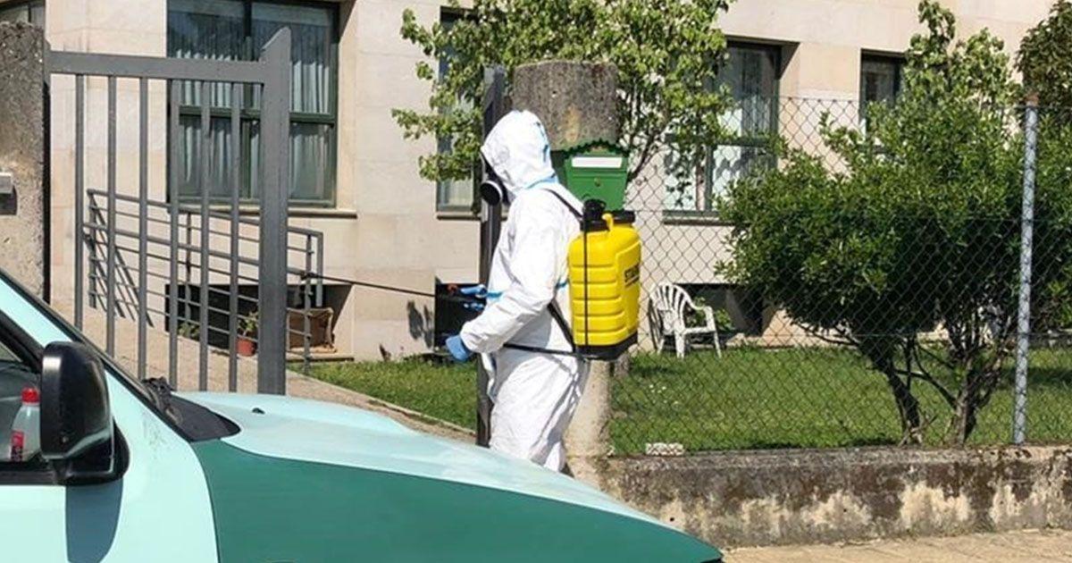 Equipos de desinfección en las residencias
