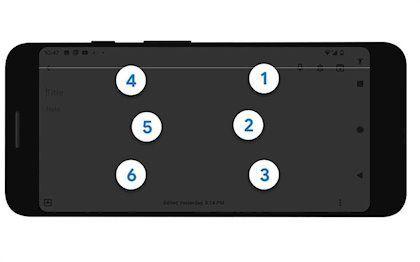 Teclado braille Android Talkback