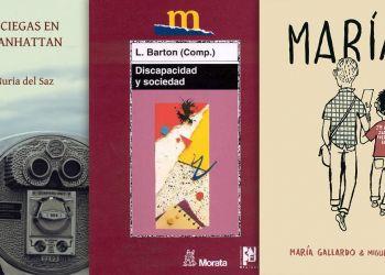 tres portadas de libros discapacidad