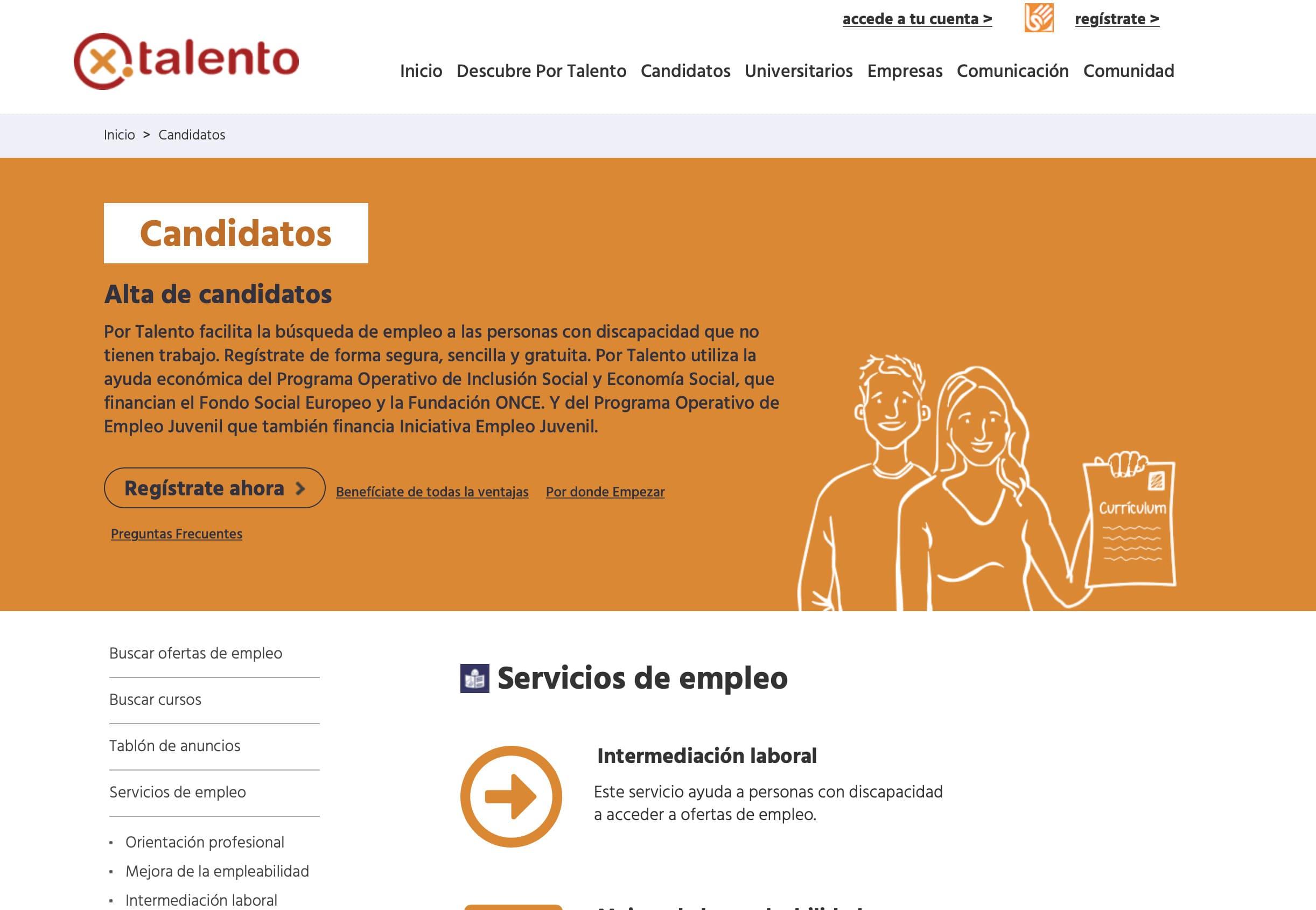 captura web portalento