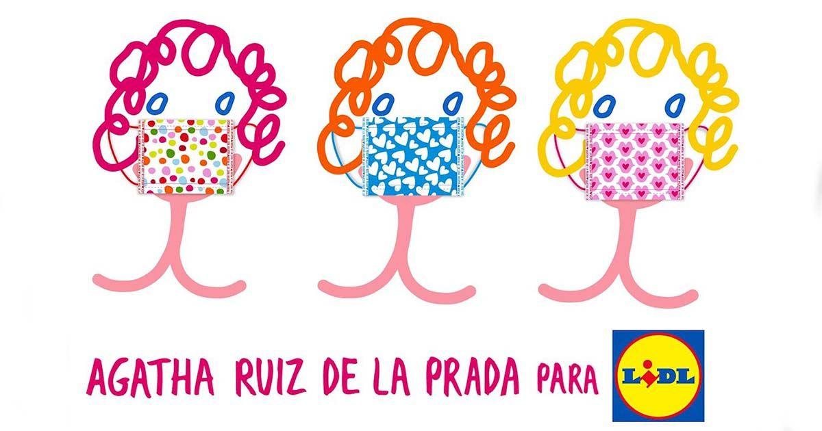 Mascarillas diseñadas por Agatha Ruiz de la Prada para Lidl