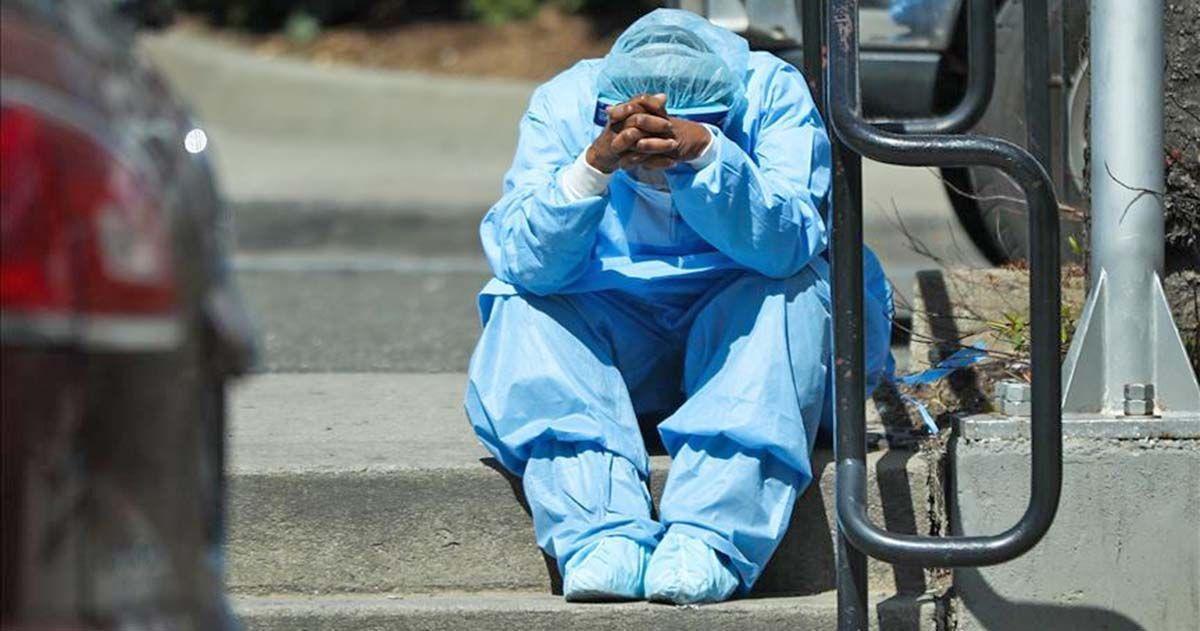 Enfermera protegida ante el Covid-19