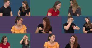 Fotograma de la campaña sobre los derechos educativos del alumnado sordo
