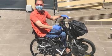 Francisco Zuasti en silla de ruedas Covid19 Lesion Medular