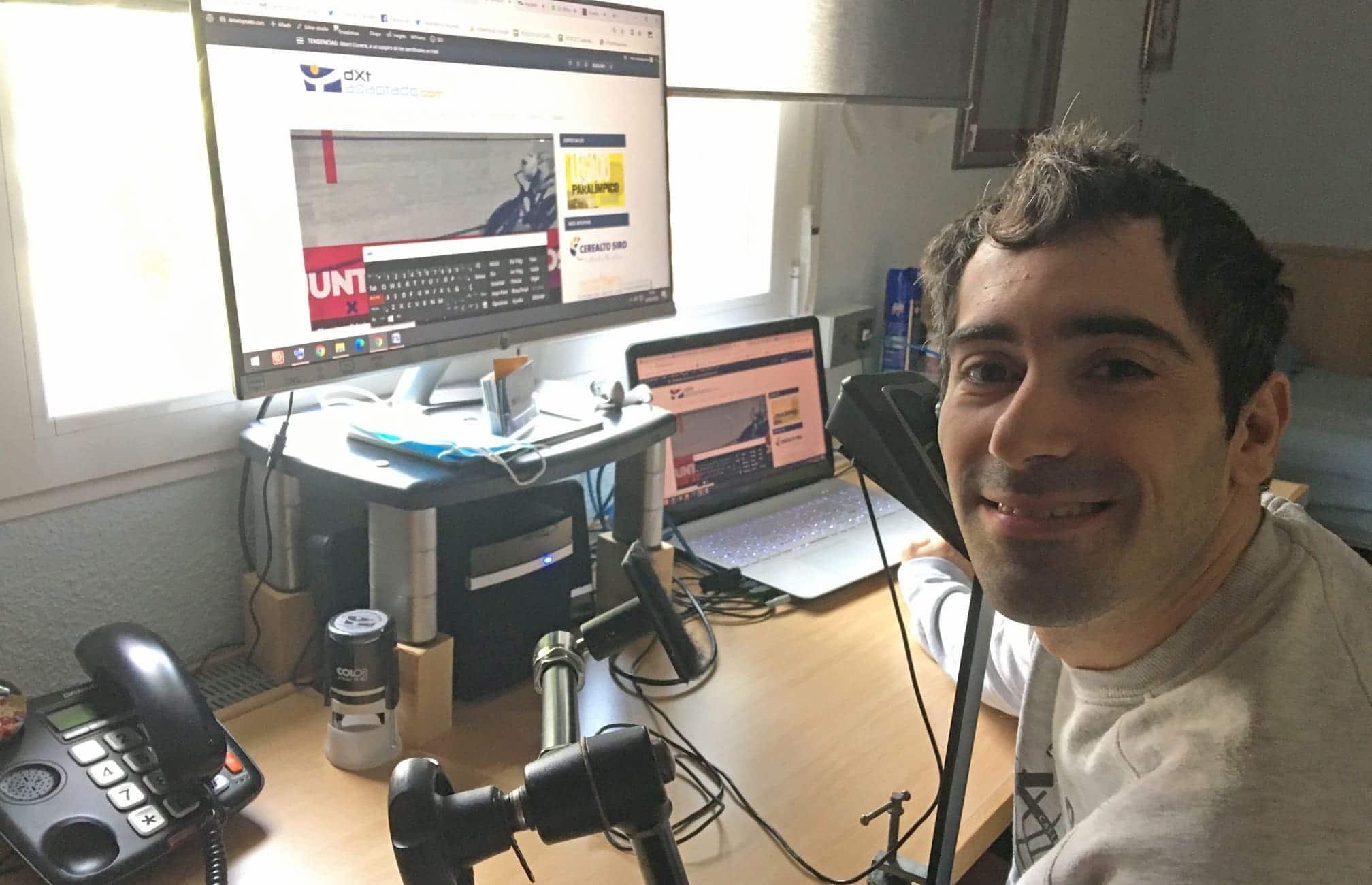 Javier Aceytuno Trabajando en la web