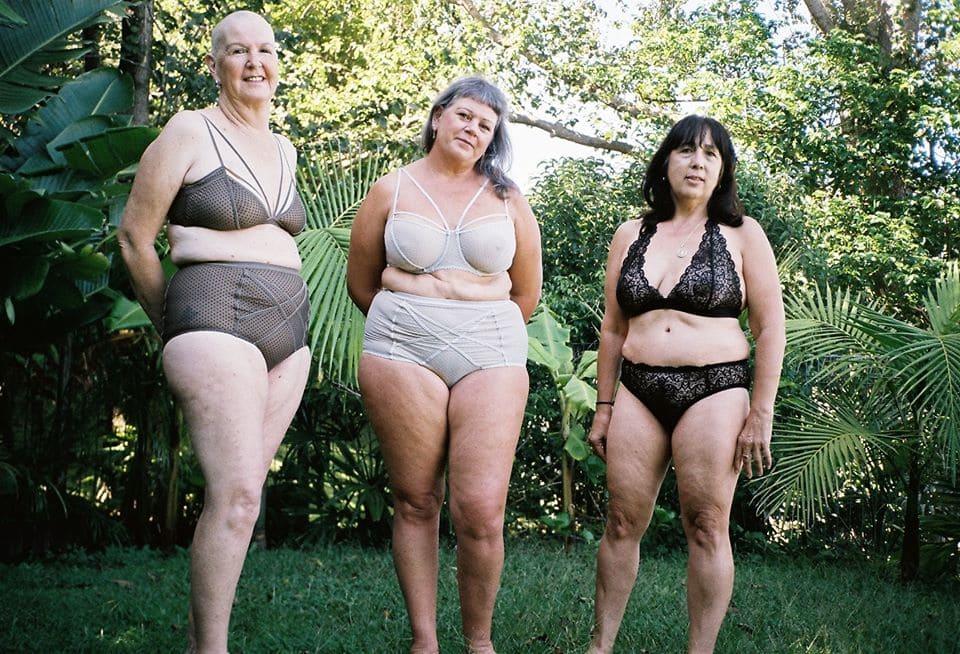 Mujeres diversas con lencería de Bonnie uw bra chartreuse