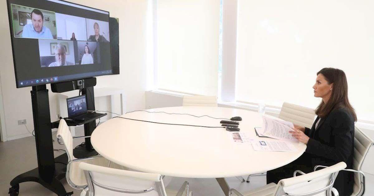 Reina Letizia en reunión con Predif