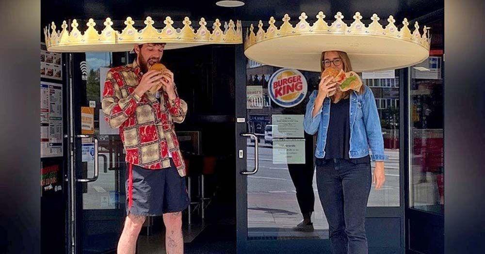 Coronas distanciamiento social Burger King