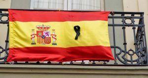 Bandera de España luto
