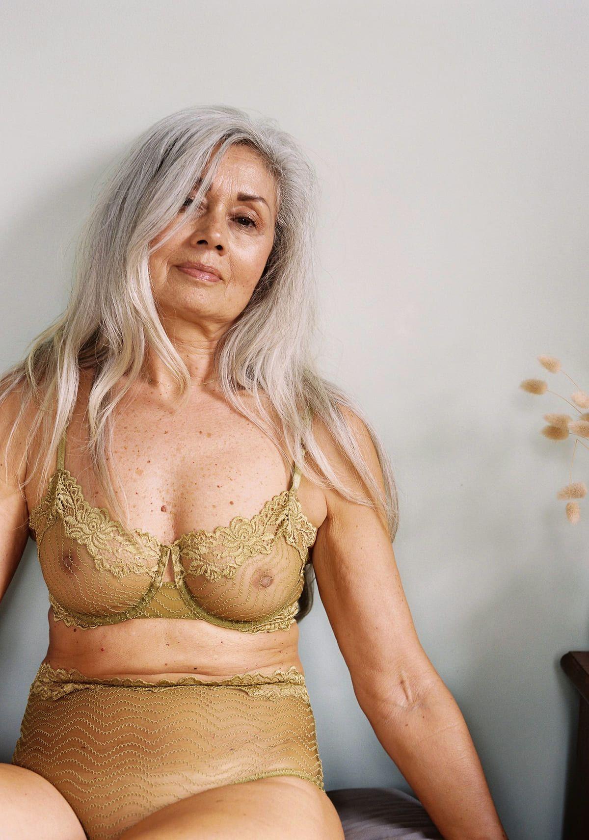 Mujer con lencería de Bonnie uw bra chartreuse