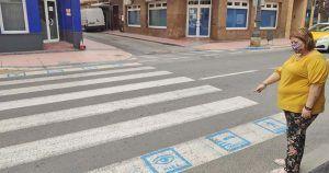 Paso de peatones con pictogramas de Los Alcázares