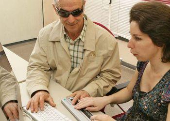 Personas ciega ordenador