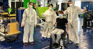 Ejercicios rehabilitación Fundación Steps durante el coronavirus