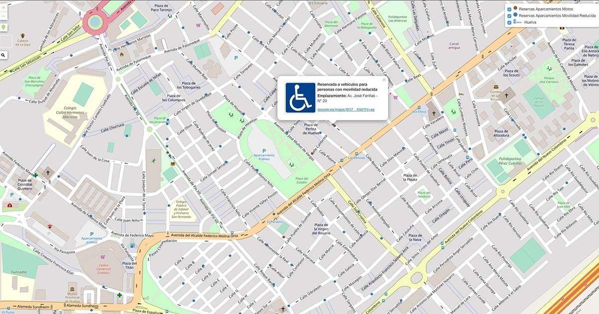 Geolocalización de aparcamientos personas con discapacidad
