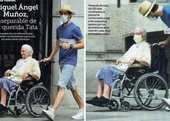 Miguel Angel Munos y Tata en silla de ruedas