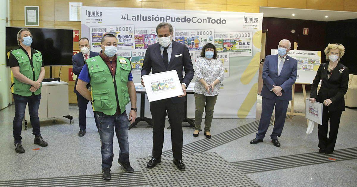 Presentación de los cupones de la ONCE #LaIlusiónPuedeConTodo2