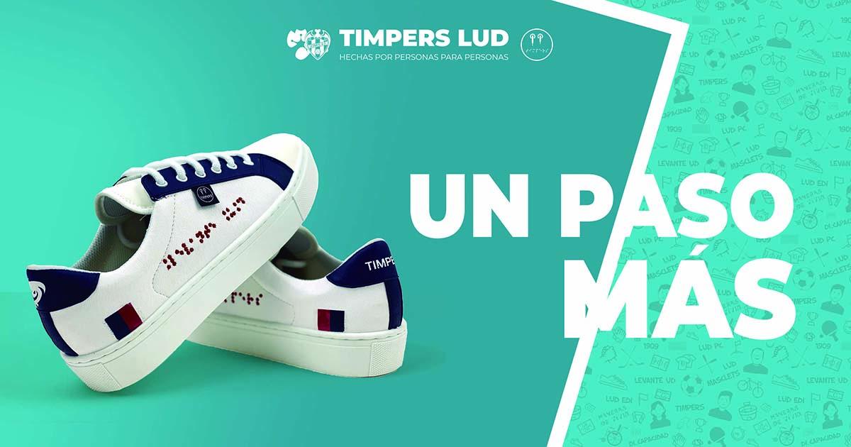 Zapatillas solidarias de TImpers y el Levante UD