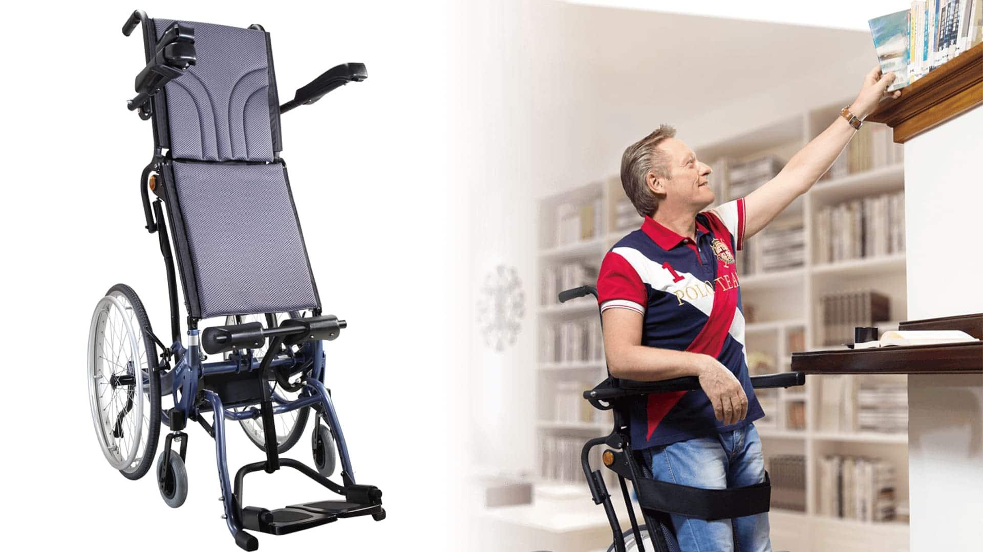 silla de ruedas manual bipedestadora KARMA SME