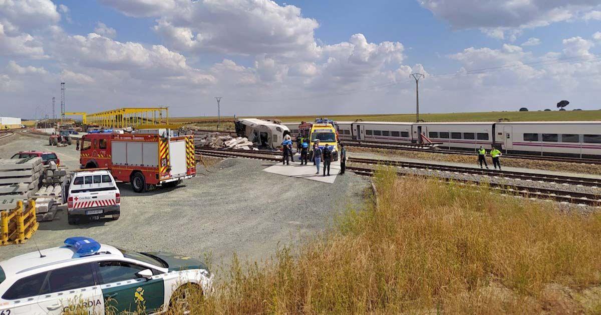 Tren descarrilado Zamora