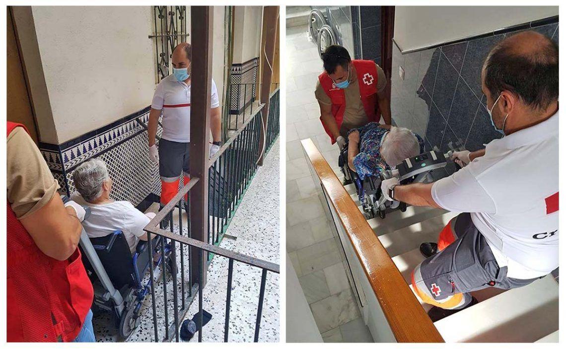 """""""Bajemos a la calle"""", el programa de ayuda a mayores de la Cruz Roja"""
